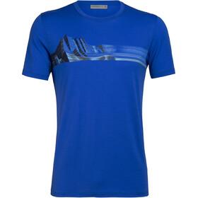Icebreaker Tech Lite Mont Blanc Moiré T-shirt Col ras-du-cou Homme, lapis